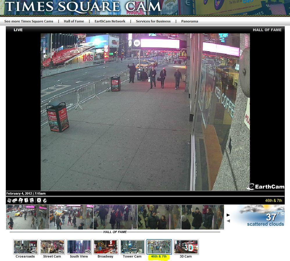 Live Cam à Timesquare