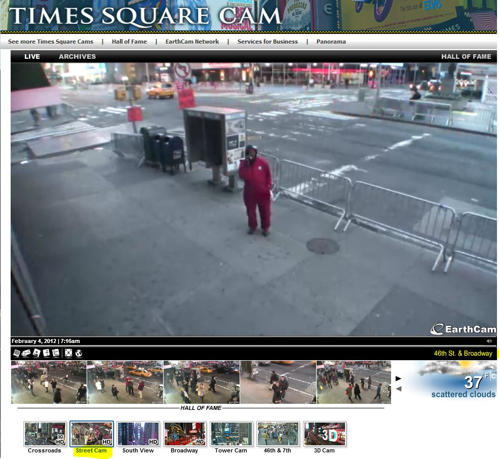 Live Cam à Timesquare angle 46th & Broadway